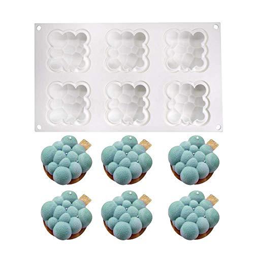 xiaoshenlu Muffa in Silicone per stampi in Silicone Mousse per Dolci in 3D, 6 Fori di Nuvola