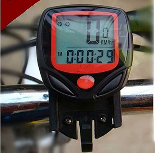 Xinhengchen Computadora de Bicicleta a Prueba de Agua con Cable Bicicleta de montaña Bicicleta cuentakilómetros cronómetro velocímetro Reloj LED tasa de Cambio Digital