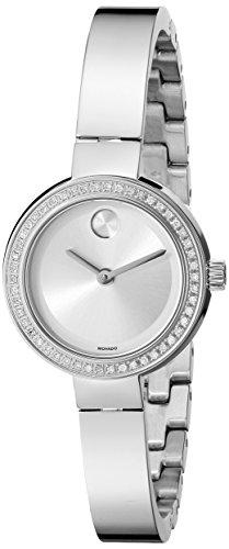 Movado Bold Reloj de mujer cuarzo analógico correa y caja de acero dial plata 3600321