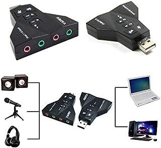 محول يو اس بي الى 3d لبطاقة الصوت الخارجية بقناة صوت فيرتشوال 71 للميكريفون والسماعات