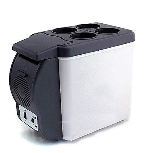 Nevera eléctrica 6L Mini refrigeradores para coche Congelador portátil 12V Refrigeración silenciosa compacta por debajo de la temperatura ambiente 5-10 ° Calefacción 55-65 ° Camping al aire libre Pic
