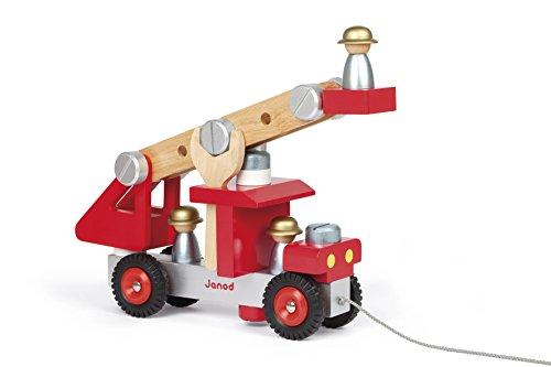 Janod J06498 - Werkzeug-Feuerwehr Zum Zusammenbauen (Bestehend Aus 27 teilen)