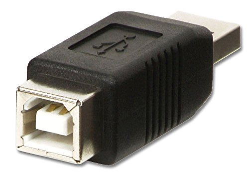 LINDY 71231 Adapter, Schwarz, USB A Male to B Female