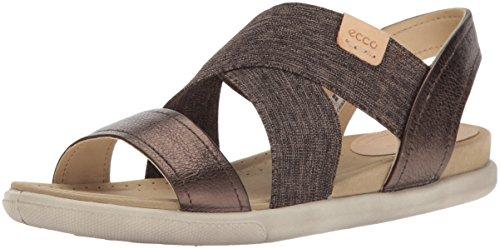 ECCO Damen Damara Offene Sandalen mit Keilabsatz, Braun (50533LICORICE/POWDER), 38 EU