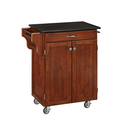 Home Style Utility Cart with Black Granite Top