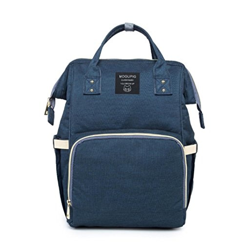 KEERADS Multifunctional Knapsack Casual Backpack Shoulder Laptop Bag for Travelling Sports Camping School (Navy)