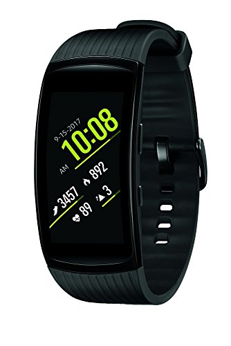 SAMSUNG Gear Fit2 Pro Smartwatch Fitness Band (Large), Liquid Black, SM-R365NZKATPA - International Version, No Warranty
