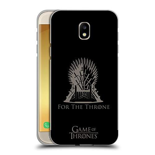 Head Case Designs Ufficiale HBO Game of Thrones Sedile in Ferro Vettore Stagione 8 per Il Trono Arte Cover Nera Metallica in Alluminio Bumper Compatibile con Samsung Galaxy J5 (2017)