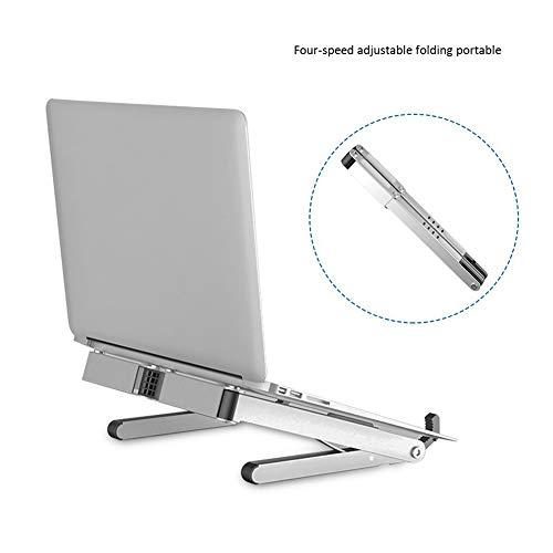 WYQ Portable Laptop Stand, Foldable Ventilated Desktop Laptop Holder, Universal Lightweight Space-Save Adjustable Ergonomic Tray Mount
