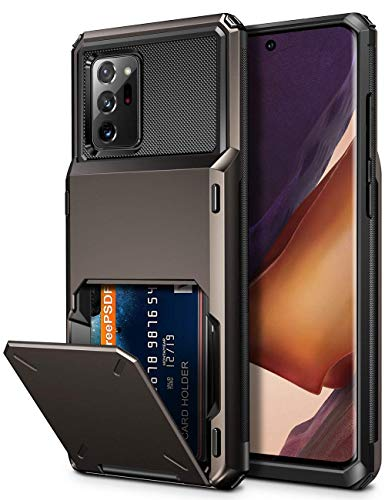 Vofolen for Galaxy Note 20 Ultra Case 5G Wallet 4-Card Flip Cover Credit Card Holder Slot Back Pocket Dual Layer Protective Hybrid Hard Shell Bumper Armor Case for Samsung Note 20 Ultra 6.9 Gun Metal