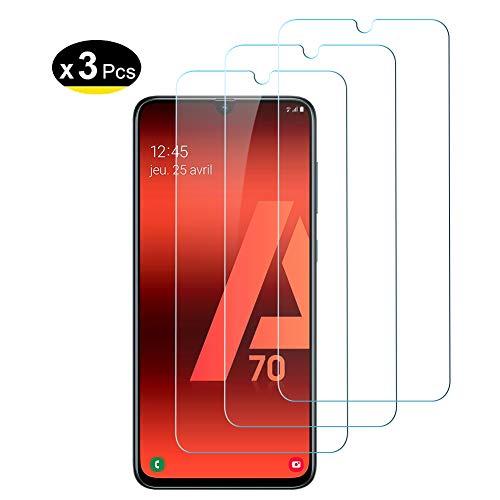 Hanbee Protector de Pantalla para Samsung Galaxy A70 Cristal Templado para Galaxy A70 Protector Pantalla, [3 Unidades]Alta Definicion, 3D Cobertura Completa, Resistente a Arañazos per Samsung A70