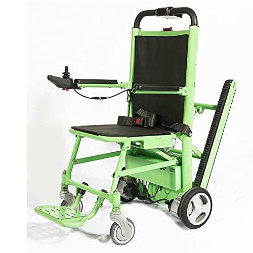 H&1 Silla de Ruedas eléctrica Silla de evacuación de Escalera Plegable con orugas para Subir escaleras eléctrica Adecuada para Personas con Movilidad Reducida