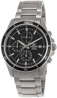 ساعة كاسيو ايديفيس للرجال بقرص اسود ستانلس ستيل كرونوغراف - EFR-526D-1AVUDF