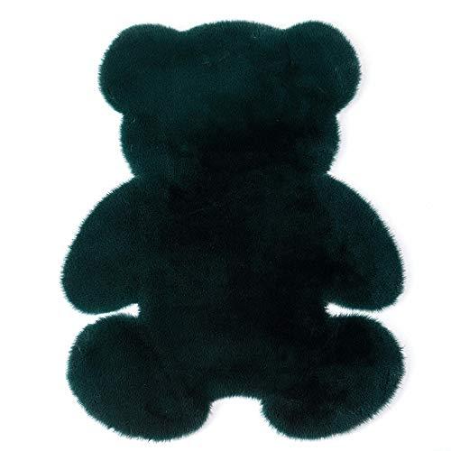WallDiy Cartoon Bear Carpet Soffice Peloso Pelliccia di Coniglio Tappeto Bambini Camera dei Bambini Peluche Cuscino per Sedia in stuoia di Lana Artificiale