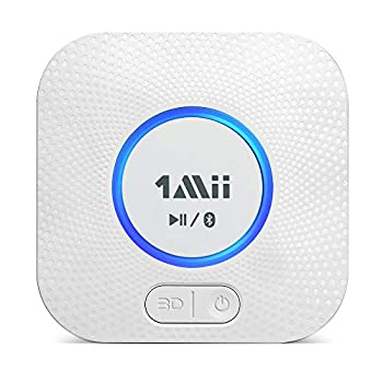 1Mii B06 Plus Bluetooth Receiver HiFi Wireless Audio Adapter Bluetooth Receiver with 3D Surround Low Latency for Home Music Streaming Stereo System  White