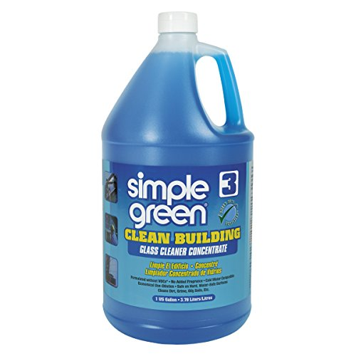 glass cleaners Simple Green 11301 Clean Building Glass Cleaner Concentrate, Unscented, 1gal Bottle (Case of 2)