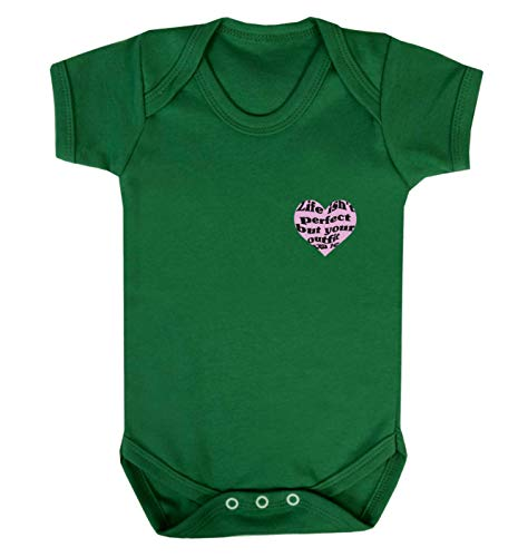 Flox Creative Baby Vest T-shirt Life Isn't Perfect But Your Outfit Can Be - Vert - M
