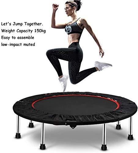 JNY Kinder Trampolin Trampolin - faltbar Griffige Gummifüße (bis zu 250 kg) kann garantieren, Long-Term Fitness und Gewichtsverlust von Indoor Trampoline, Größe: 50in / 40in sicherer (Size : 40in)
