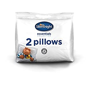 Silentnight Essentials Collection Essential Pillow, White, Pack of 2