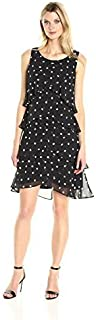 S.L. Fashions Women's Jewel-Strap Tiered Cocktail Dress