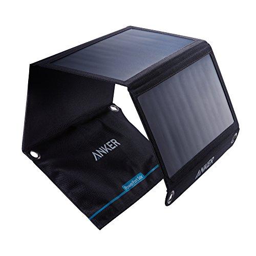 Anker PowerPort Solar, Chargeur Solaire Portable 21W 2 Ports USB pour iPhone X / 8/8 Plus / 7/7 Plus / 6/6 Plus, iPad Air 2 / Mini 3, Galaxy S6 / S6 Edge et Autres.