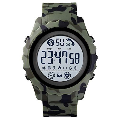 YDL Smart Watches Digital Men's Watch Aplicación Recuerde A Calorie SmartWatch Waterproof Bluetooth Watch para Android (Color : Green)