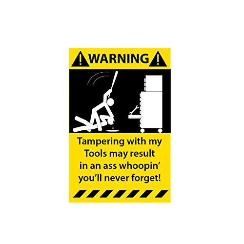XCWQ Autosticker, 6,3 cm x 10,2 cm, waterdicht, zonwering, zelfklevend, vervalsing, met mijn gereedschapskist, PVC, toont persoonlijkheid, afdekking strips