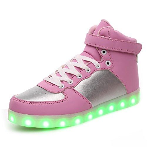 KALEIDO ShinyNight Sportschuhe mit LED-Beleuchtung, USB-Aufladung, 11 Farben, für Herren, Damen, Mädchen, Jungen