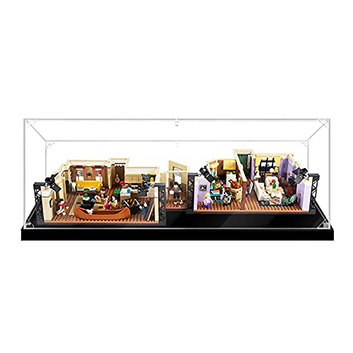 HYCH Teca Acrilico Vetrina per Lego 10292, Casella di visualizzazione Compatibile per Lego 10292 The Friends Apartments (Non Incluso Modello) (2MM)