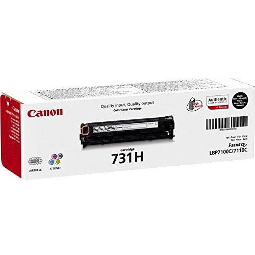 Canon cartucho 731H de tóner original negro para impresoras láser i-SENSYS LBP7100Cn, LBP7110Cw,i-SENSYS,MF8230Cn, MF8280Cw,i-SENSYS MF623Cn, MF628cw