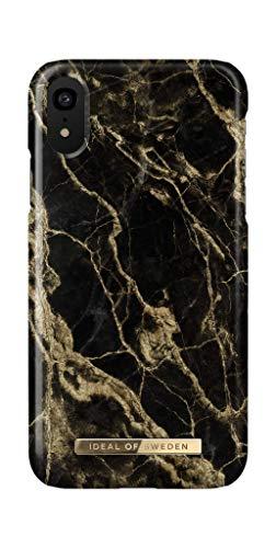 IDEAL OF SWEDEN Handyhülle für iPhone XR (Golden Smoke Marble)