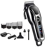 Cortador de pelo profesional/cortador de pelo eléctrico inalámbrico para hombre cortador de pelo pro LCD doble...