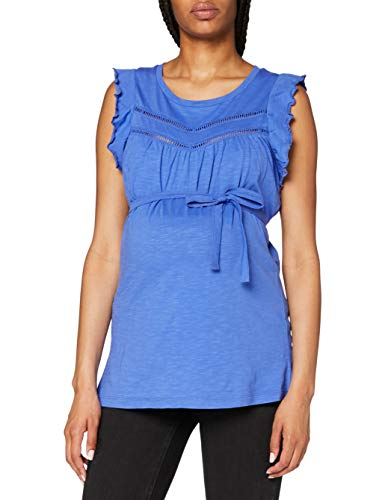 MAMALICIOUS Damen MLSIANA S/S Jersey TOP A.V. T-Shirt, Amparo Blue, XL