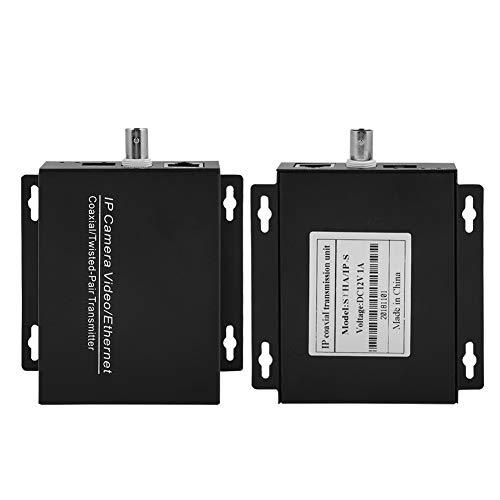 Fockety Extensor de Cable HDMI a través de Ethernet a través de coaxial Extensor de Red coaxial Larga Distancia de transmisión para monitoreo de Ascensores