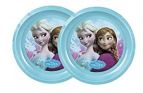 Home Line Plato Bebé de Plástico Frozen en Set de 2, Platos para Niños. Vajillas Infantiles X2