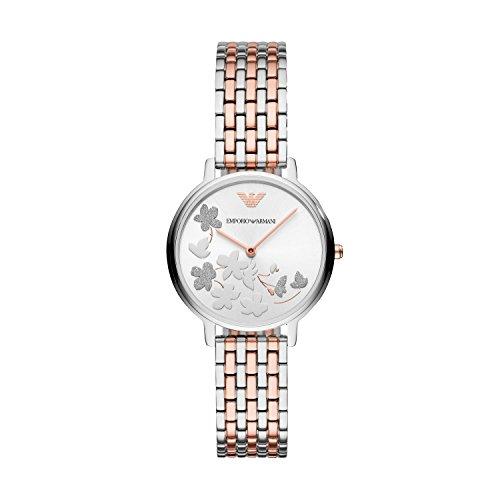 Emporio Armani Damen Analog Quarz Uhr mit Edelstahl Armband AR11113