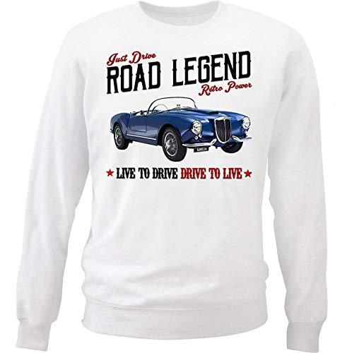 Teesandengines Men's Lancia Aurelia White Sweatshirt Size XLarge