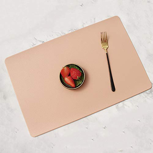 Yhkj Imitation leather placemats, waterproof and oil-proof placemats, heat insulation table mats, hotel home western placemats