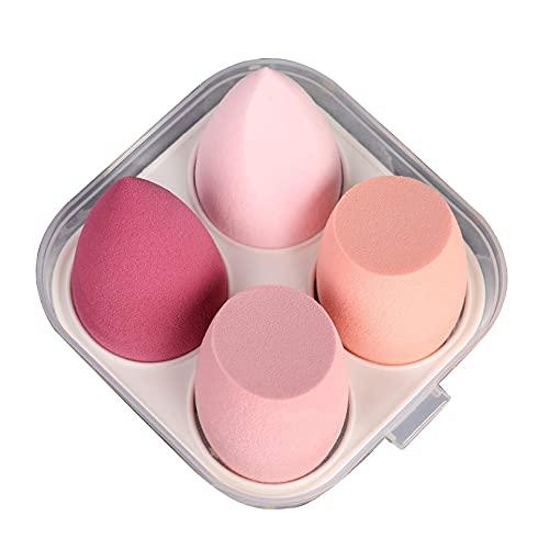Ebingoo Makeup Sponge Blender 4pcs Makeup Sponge Beauty Cosmetic Tool Makeup Sponges Beauty Blender Foundation Sponge (4pcs, Pink Series)