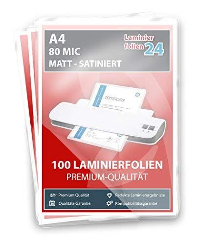 XLam Laminierfolien A4-2 x 80 Mic - matt - 100 Stück - PREMIUMQUALITÄT FÜR PERFEKTE LAMINIERERGEBNISSE