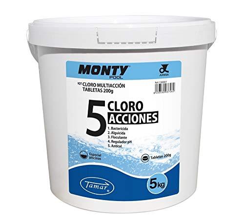 LOLAhome Cloro multifunción Especial Piscinas (5kg -Tabletas 200gr 5 Funciones)