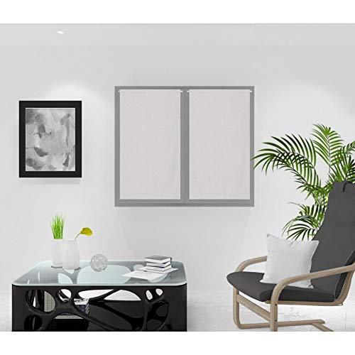 Soleil d'ocre Rideaux Brise-bise, Gris, 45 x 90 cm