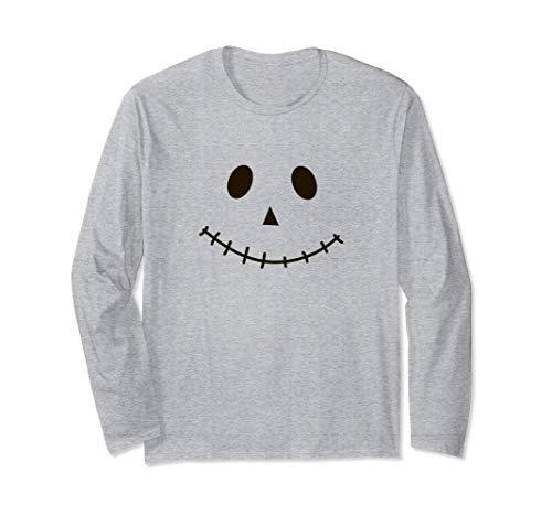 かかしの顔 ハロウィンコスチューム2020 長袖Tシャツ