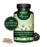 Ajo Negro Vegavero | Ahora 600 mg de Extracto 10:1 | Equivale a 6000 mg | Testado en Laboratorio - Sin Aditivos | Colesterol + Antioxidante | 120 Cápsulas | Apto Para Veganos