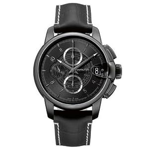 Hamilton Railroad Chronograph Black Dial Men's Watch - H40686335