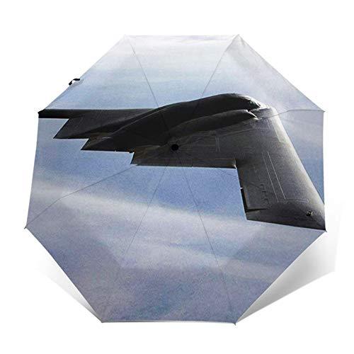 Paraguas Plegable Automático Impermeable Bombardero 062, Paraguas De Viaje Compacto A Prueba De Viento, Folding Umbrella, Dosel Reforzado, Mango Ergonómico
