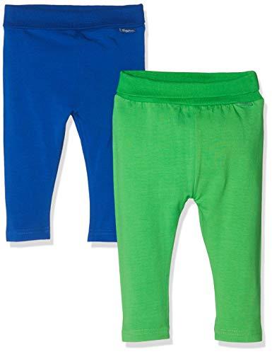Playshoes Baby-Leggings Blau-Grã¼n Im 2er Pack, Azul (Sortiert 999), 52 (Talla del Fabricante: 50/56) 2 para Bebés