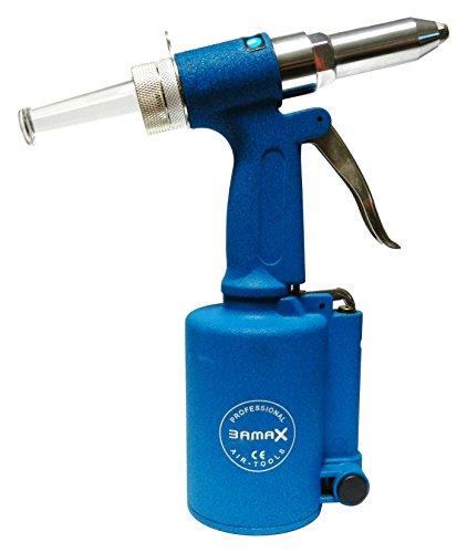 Bamax AT0015 - Remachadora neumática profesional, color azul