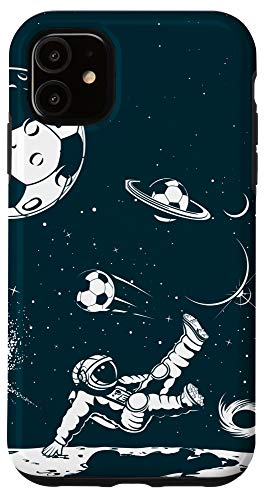 iPhone 11 Soccer Phone Case Soccer Lover Space Astronaut Football Case