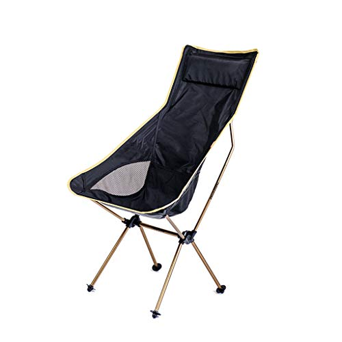 RENJUN Outdoor Tragbarer Klappstuhl Leichte Campingstühle Angeln Skizze Zeichnen Bank Sitz Rückenlehne (58 x 93 x 104 cm) Klappstuhl Gold